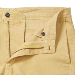 Bermuda Cotton Linen Stretch Slim Fit Pants - New Wheat