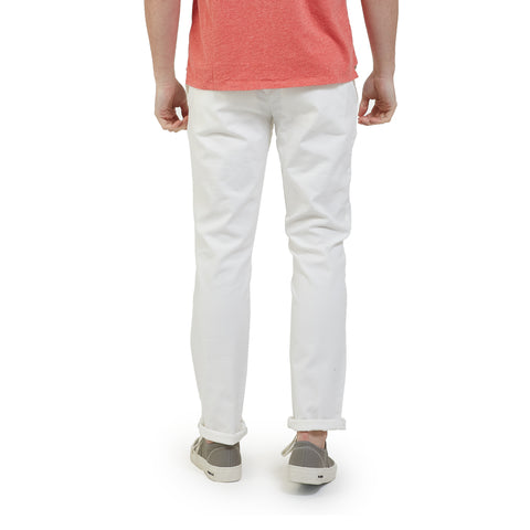 Newport Canvas Stretch Pant - White