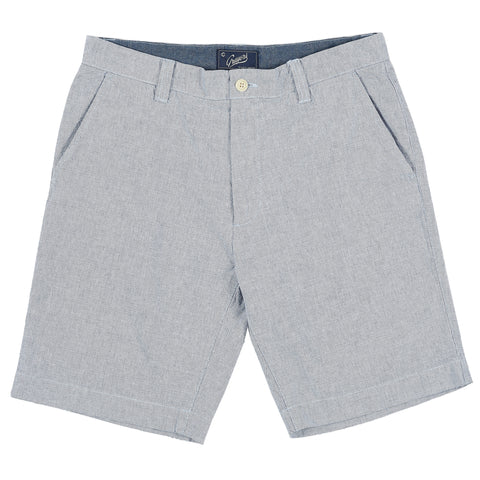 Eastvale Yarn Dyed Canvas Shorts - Blue