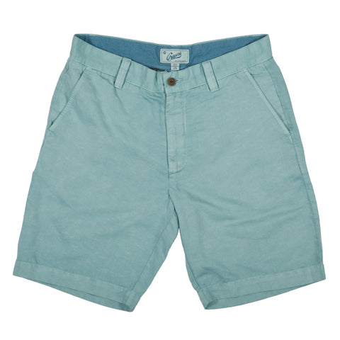 "Bermuda Cotton Linen Short 9"" - Blue Surf"