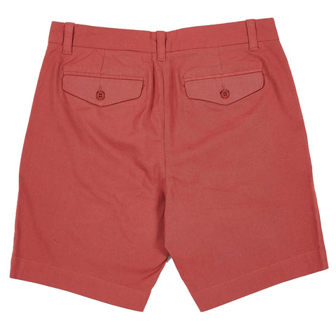 "Newport Canvas Stretch Shorts  9""- Mineral Red"