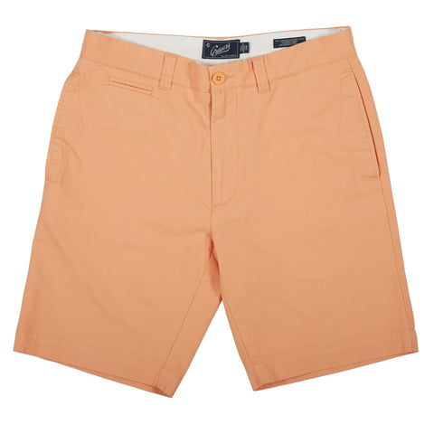 "Newport Canvas Stretch Shorts 9"" - Peach-Grayers"