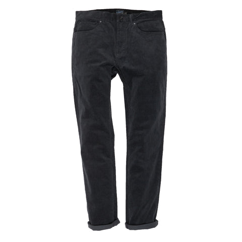 Burlington 5 Pocket Stretch Corduroy - Slate Gray-Grayers