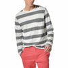 Jaspe Stripe Long Sleeve Tee - Gray Cream Bold Stripe