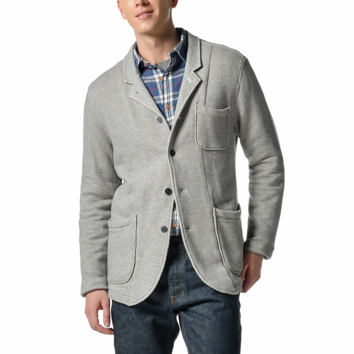 Albermarl Knit Blazer - Gray Heather