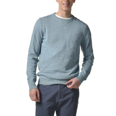 Shore Club Cotton Crew Sweater - Sea Foam