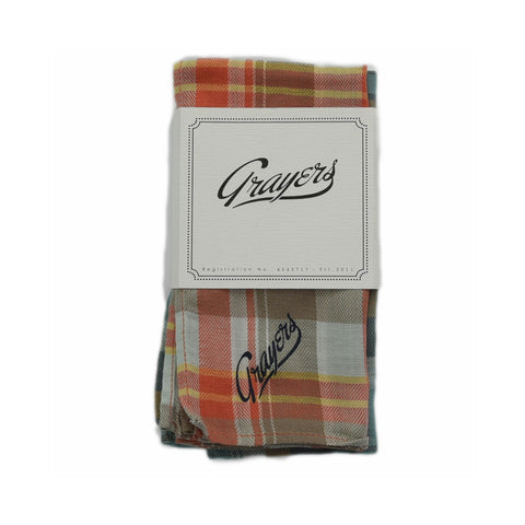 Plaid Herringbone Pocket Square (Set of 2)-Grayers