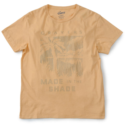 Delray Short Sleeve Printed Tee - Made in The Shade / Golden Straw