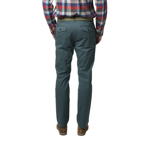 Newport Modern Fit Stretch Chino - Tarp Green