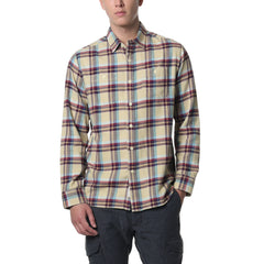 Lonsdale 3 Ply Jaspe Luxury Flannel - Khaki Teal Wine-Grayers