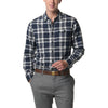 Hamilton Double Cloth Shirt - Navy Cream Plaid