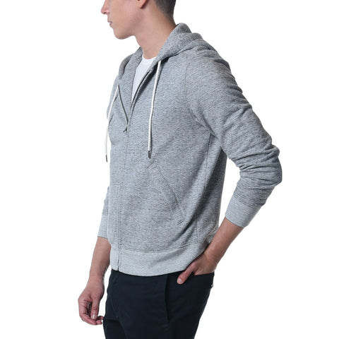 Athletic Hoodie Brushed French Terry - Gray Heather