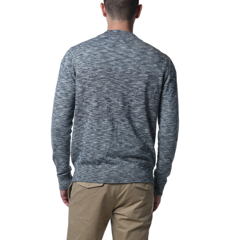 Marlborough Henley Sweater - Navy Marl