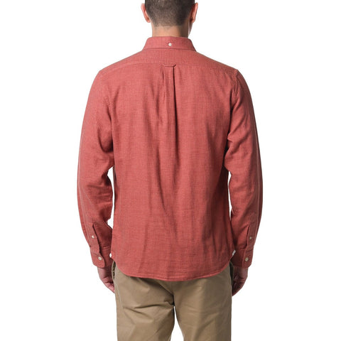 Corbyn Double Cloth Herringbone - Burnt Orange