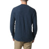 Byron Double Cloth Henley - Navy Heather Seafoam