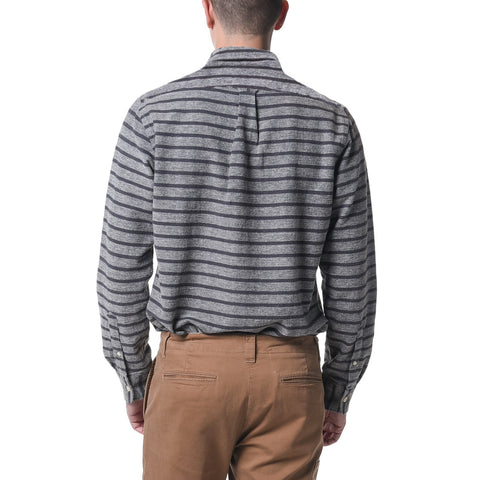 Buren Nep Yarn Flannel - Gray Horizontal Stripe