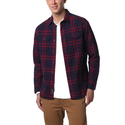 Hampstead Heritage Flannel - Cabernet Navy Heather