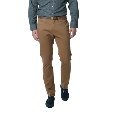 Newport Stretch Modern Fit Chino - Saddle-Grayers