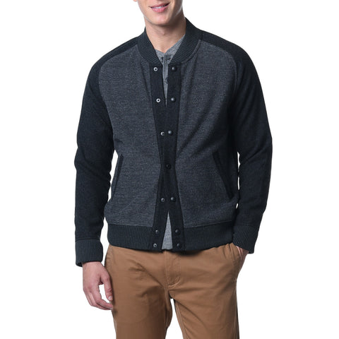 Nelson Jacquard Swacket - Black Charcoal