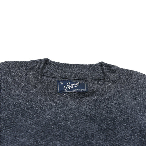 Andover Wool Linen Crew Neck - Charcoal