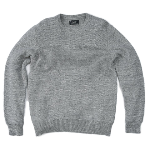 Ardsley Textured Cotton Crew SMP- Gray Heather