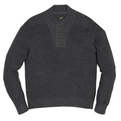 Wadsworth Bib Sweater Henley  SMP - Charcoal