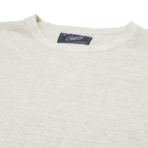 Stafford Multi-Texture Crew - Cream Heather-Grayers
