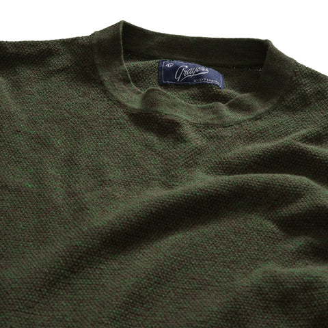 Stafford Multi Texture Crew - Forest Green