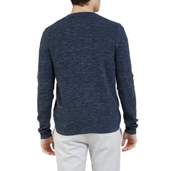 Stafford Multi Texture Crew - Navy Heather-Grayers