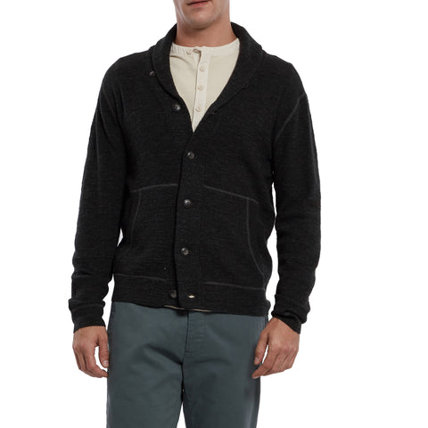 Cabana Shawl Cardigan - Dark Charcoal-Grayers