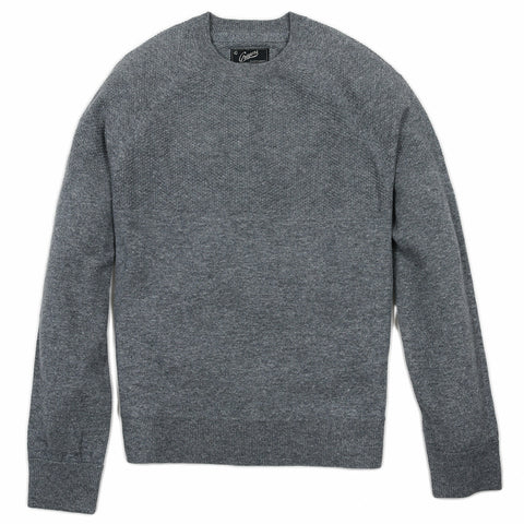 Andover Wool Linen Crew Neck - Gray