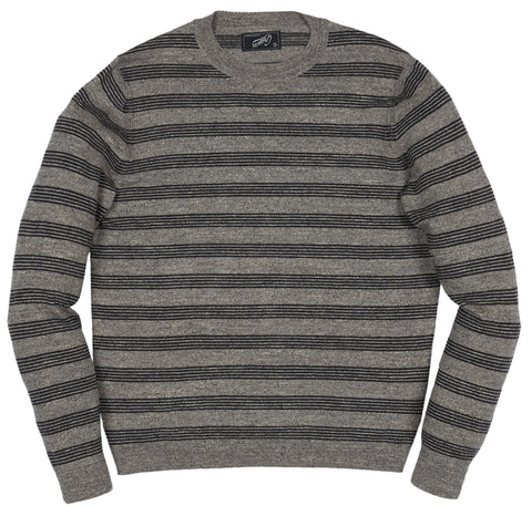 Surf Stripe Sweater - Cream Gray Stripe