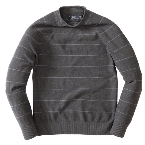 Popcorn Stitch Roll Neck SMP - Olive Gray Stripe