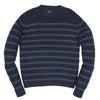 Joseph Textured Crew - Navy Stripe-Grayers