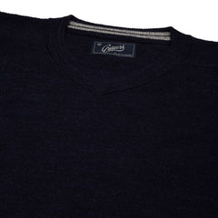 Bleecker Textured V Neck - Navy Heather-Grayers