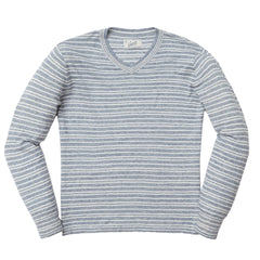 Bedford Stripe V Neck - Denim Multi