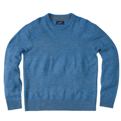 Wadsworth Wool Linen Textured Crew - Med Blue-Grayers