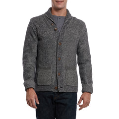 Belmont Plaited Cardigan Sweater - Charcoal-Grayers