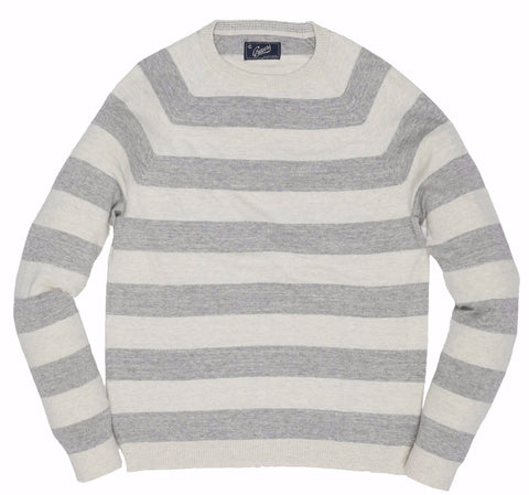 Surf Stripe Sweater - Cream Gray Stripe-Grayers