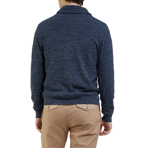 Cabana Shawl Cardigan - New Navy Heather-Grayers