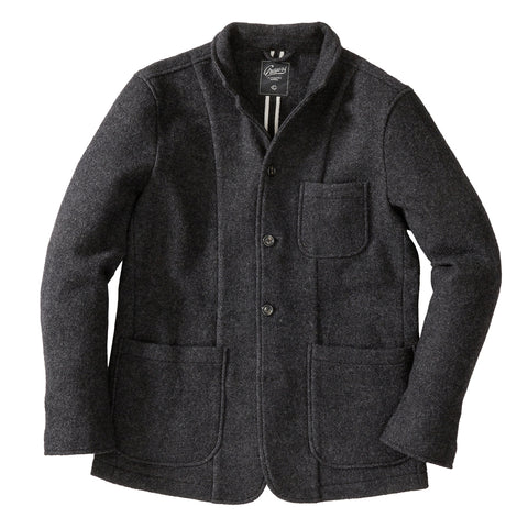 Hackett Stretch Moleskin  Car Coat - Charcoal