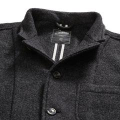 Burnham Knitted Wool Blazer - Charcoal