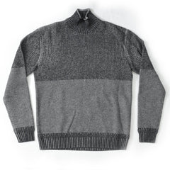Burwood Cashmere Textured Rollneck SMP- Gray