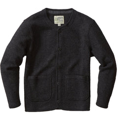 Burnham Knitted Boiled Wool Liner Jacket - Charcoal