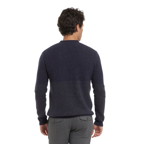 Aspen Cashmere Roll Neck - Navy