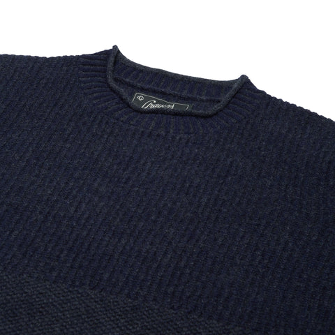Aspen Cashmere Roll Neck - Navy-Grayers