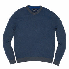 Dover Birdseye Hi V Neck - Tahoe Blue-Grayers