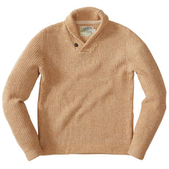Belmont Plaited Shawl Pullover - Caramel