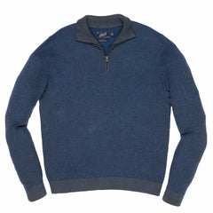 Dover Birdseye Mock Neck - Tahoe Blue-Grayers