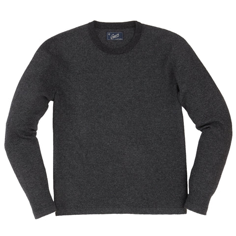 Wallace Cashmere Crew - Charcoal